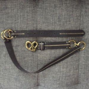 Lucky Brand leather black waist belt Small